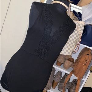 NEW| Cotton On Bodysuit with Lace V-neck black